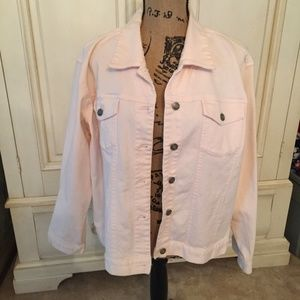 Chicos Pink Jean Jacket Size 3